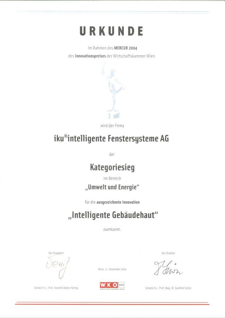 Urkunde Mercur 2004