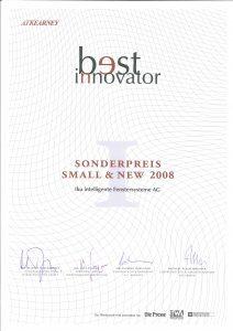 Auszeichnung best Innovator